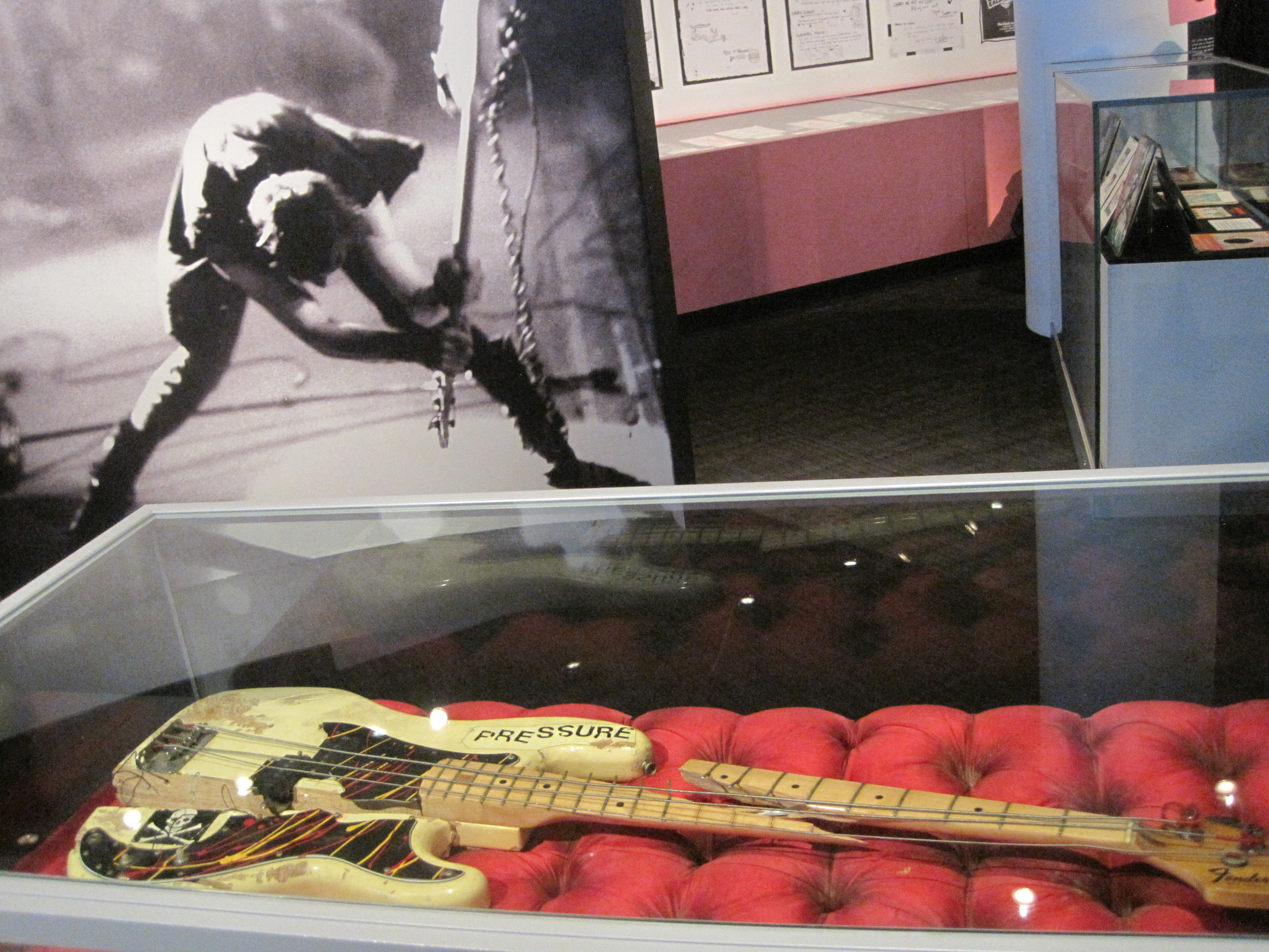 Paul Simonon's broken Fender Precision Bass, smashed on stage at The Palladium in New York City on 21st September 1979.