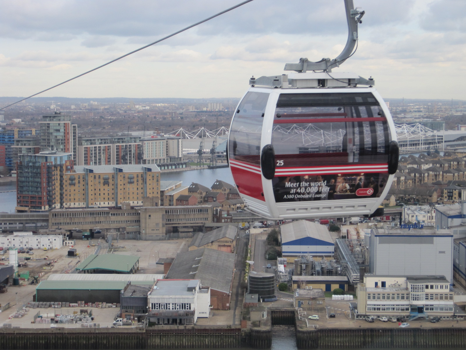 The Emirates Air Line - photo by Juliamaud