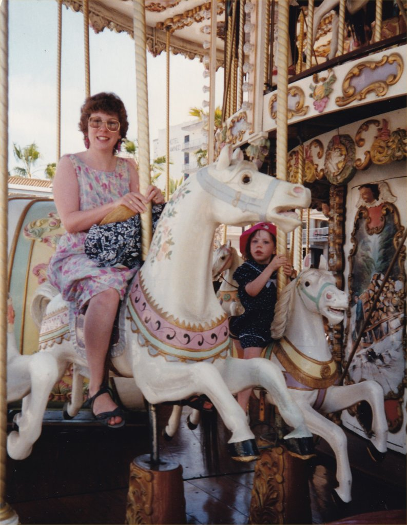 On a merry go round - photo by Juliamaud